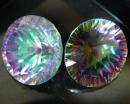 MYSTIC QUARTZ  ''TWILIGHT PAIR'' VS  14.50CTS  [S2650]