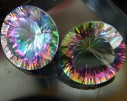 MYSTIC QUARTZ  ''TWILIGHT PAIR'' VS  14.05CTS  [S2652]