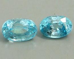 ZIRCON BLUE 1.65 CARAT WEIGHT OVAL CUT GEMSTONES PARCEL -  2