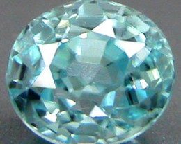 ZIRCON BLUE .82 CARAT WEIGHT ROUND CUT GEMSTONE RARE ZIRCON!