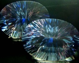 MYSTIC QUARTZ  '' BLUE LAGOON''  PAIR VS 22.8 CTS  [S2792]
