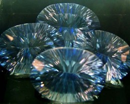 MYSTIC QUARTZ  '' BLUE LAGOON''  PARCEL VS 43.5 CTS  [S2807]