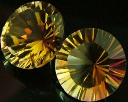 "MYSTIC QUARTZ ''GOLDEN SUNRISE"" PAIR VS 4.7 CTS [S2823]"