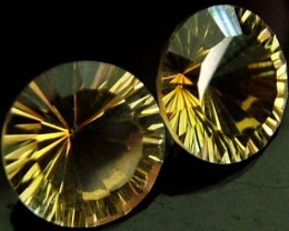 "MYSTIC QUARTZ ''GOLDEN SUNRISE"" PAIR 4.7 CTS  [S2832 ]"