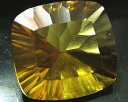 FLUORITE -BRILLIANT CLEAN  GOLDEN COLOURS 12.2 CTS [S2887]