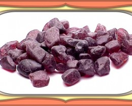 ROUGH 74  - 200 Carats VERY RED ORISSA GARNET