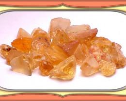 ROUGH  - 218.65ct BRAZIL GOLD TO ORANGE CITRINE FACET ROUGH