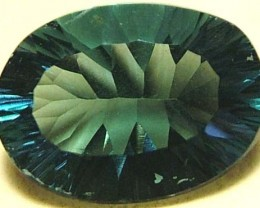 FLUORITE-BRILLIANT CLEAN GREEN-BLUE COLORS 8.4 CTS [S2943]