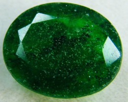 Quartz Emerald Green colour  3.50  carats   QU8