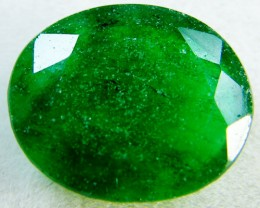 Quartz Emerald Green colour  4  carats   QU40