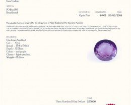 CERTIFIED BEAUTIFUL NATURAL AMETHYST STONE 21.94 CTS A371