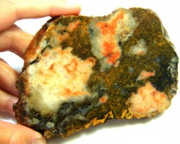 ROUGH AUSSIE  TWO TONE  JASPER  SLAB TO POLISH 145 GMS  MY 6