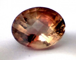 1.95ct Sparkling Bright Peachy- Brown Tourmaline VVS - A128
