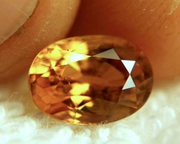 CERTIFIED - 2.79 Carat Whiskey Colored Sapphire - Beautiful