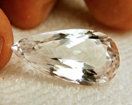 30.4 Carat Snow White IF/VVS1 Spodumene - Gorgeous