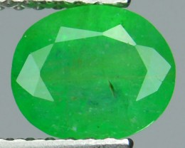 1.20 Cts Natural Green Emerald Oval Cut Zambia 1$ NR