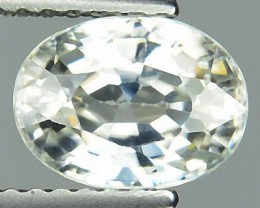 2.31 Cts Natural Unheated White  Zircon Oval Cut 1$ NR