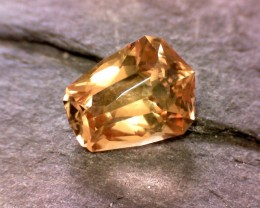 Custom Cut Precious Golden Yellow Pink Topaz from Brazil