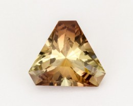 SALE WAS $2055 ~ 12.45ct. Champagne Amber Trilliant Oregon Sunstone, (S45)