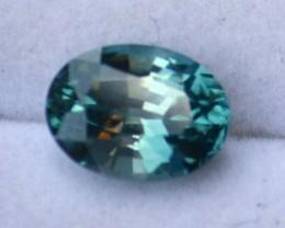 2.81 Carat Nice Oval Cut Blue-Green Zircon