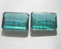 21.26cts Very Rare High Quality Perfect Matching Pair of  Zambian Emeralds