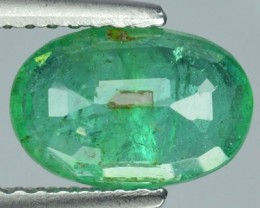 1.79 Cts Natural Green Emerald Oval Cut Zambia 1$ NR