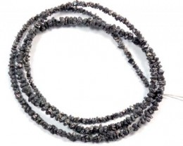 METALLIC DARK ROUGH DIAMOND STRAND  18.80 CTS SD-130