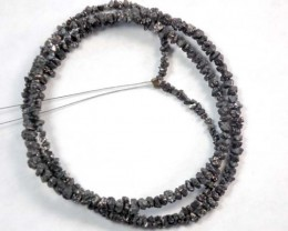 METALLIC DARK ROUGH DIAMOND STRAND 18.55  CTS SD-112