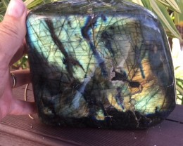 HUGE LABRADORITE SPECIMEN POLISHED AGR1419