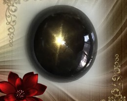 5.87ct BLACK STAR SAPPHIRE CABOCHON GEM - STAR IN THE NIGHT