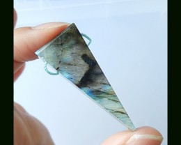 Triangle Labradorite Pendant Bead,43x13x7 MM