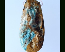 Nugget Petrified Pendant Bead, Gemstone Bead ,Jewelry Making (N042)
