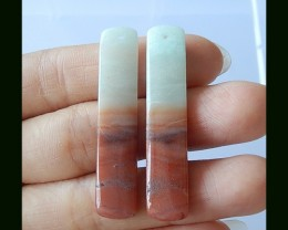 Long Amazonite Earring Bead