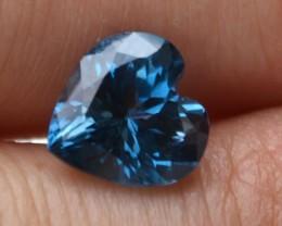 4.09 Carat Fantastic Heart Shaped London Blue Topaz