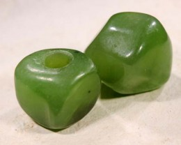 NATURAL SOLID JADE BEAD 13.2 CTS NP-1619