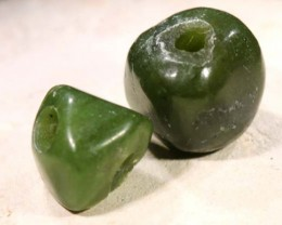 NATURAL SOLID JADE BEAD 13.5 CTS NP-1620