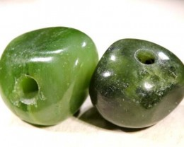 NATURAL SOLID JADE BEAD 32 CTS NP-1626