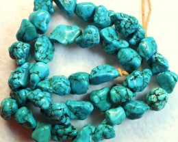 352.8 CTS HOWLITE BEADS NATURAL SHAPE P979