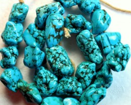 594.5 CTS HOWLITE BEADS P983