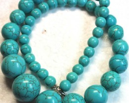389 CTS HOWLITE POLISHED ROUND BEADS with Clasp P991