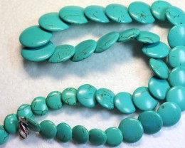 311.6 CTS HOWLITE POLISHED BEADS with Clasp P999