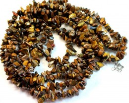 599.3 CTS  -  TIGER EYE NATURAL POLISHED BEAD WITH CLASP P1003