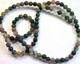 54.1 CTS ONE STRAND OF JASPER ROUND MULTI COLOR P1004