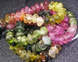 37.65 CTS 4.2 MM TOURMALINE BEADS A GRADE 16 INCHES [ST9497]