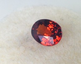 1.57 Carat Oval Cut Reddish Orange Spessartite Garnet