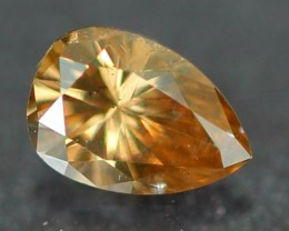 0.12Ct Natural Untreated Fancy CHAMPAGNE Color Diamond