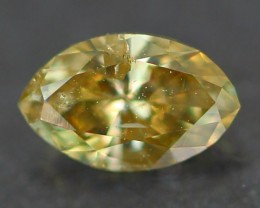 0.19Ct Natural Untreated Fancy CHAMPAGNE Color Diamond