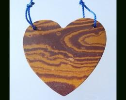 52.5Cts Heart Shape Wonder Stone Pendant Bead