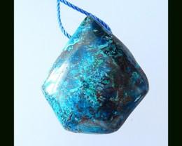 48.5 Cts Natural Chrysocolla Pendant Bead