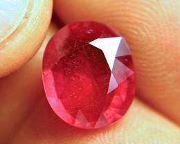 6.20 Carat Fiery Cherry Ruby - Superb